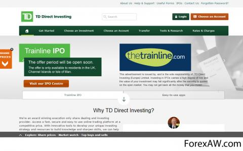 Td direct investing forex